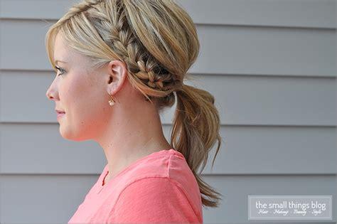 how to do half ponytail hairstyles half french braid ponytail