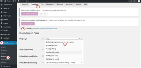 woocommerce how to change default product sort order on