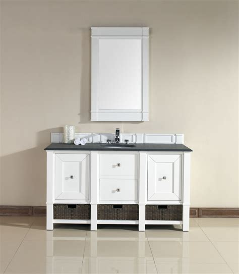 60 Inch Single Sink Bathroom Vanity In Cottage White 60 Inch Single Sink Bathroom Vanity