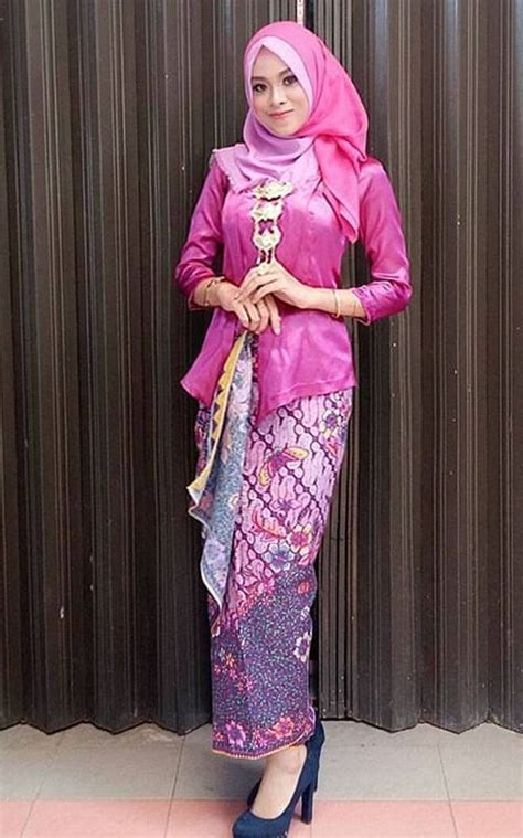 Baju Muslim Gaun Batik Syari Navy kain kebaya batik newhairstylesformen2014