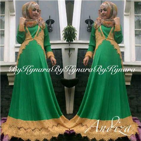 Shaqila Hitam 1 andiza by kynara hijau baju muslim gamis modern
