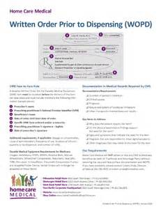 Wound Care Documentation Sle by Written Order Prior To Dispensing Wopd Home Care