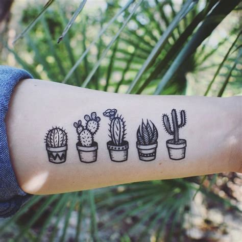 simple nature tattoos 25 best ideas about cactus on ink