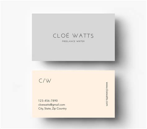 simple card templates simple modern business card template inspiration cardfaves