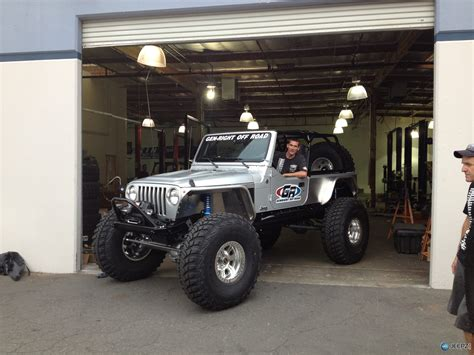 lj jeep genright off road stretched a silver lj on 42s