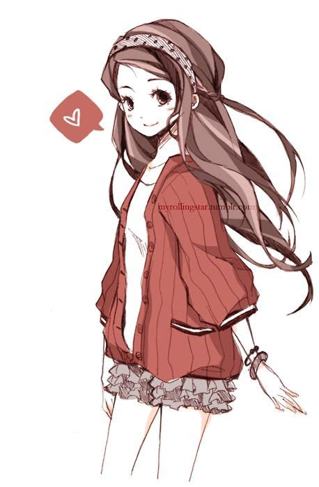 Anime With Light Brown Hair by Anime With Light Brown Hair And A Sweater