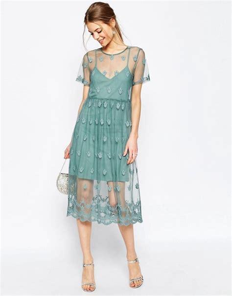 Sale Dress 2798 Brokat Fit Xl asos asos pretty embroidered mesh midi dress