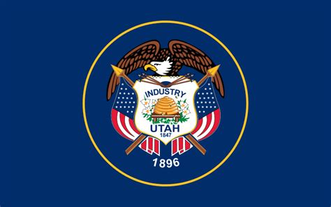 file flag of utah svg wikimedia commons