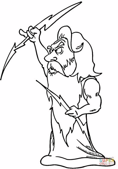 Printable Coloring Pages Of Zeus | zeus coloring page free printable coloring pages