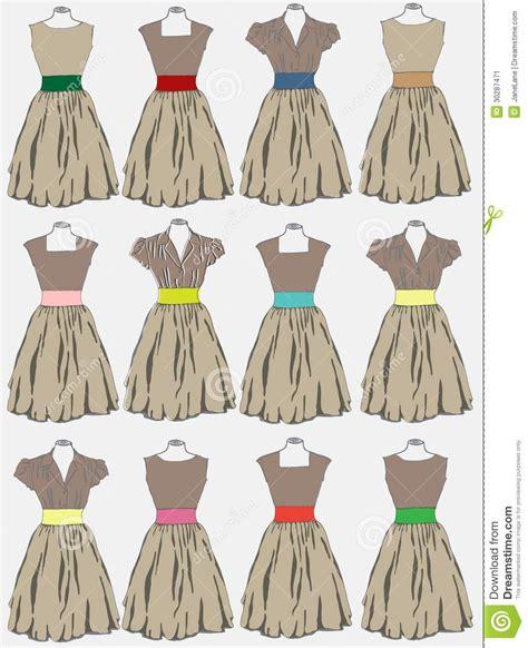 desain dress vector vintage dress background stock vector image of beauty