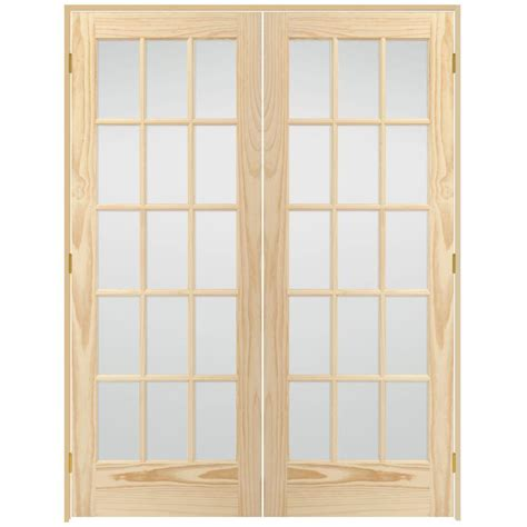 home depot interior french door steves sons 60 in x 80 in 15 lite glass solid core