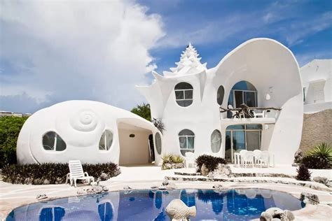Shell House Isla Mujeres Airbnb | think outside the hotel with the weirdest airbnb rentals
