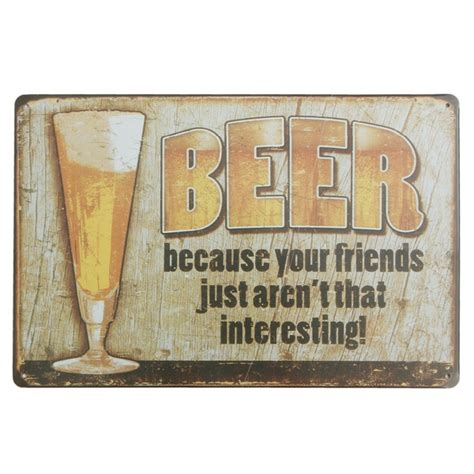 beer home decor beer tin sign vintage metal plaque poster bar pub home