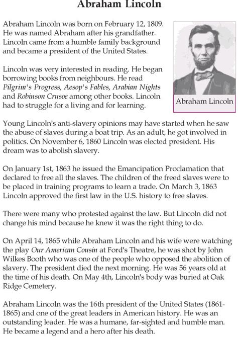 abraham lincoln biography lesson plan 102 best images about english reading grade 5 lessons 1 25