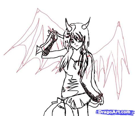 anime demon drawings anime demon wings