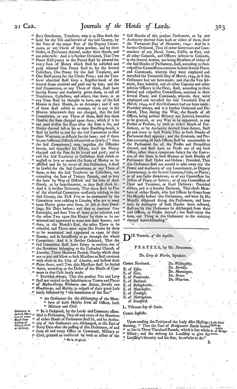 section 179 history house of lords journal volume 7 3 april 1645 british