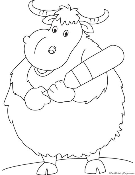 free coloring pages yak colouring pages yak wild yak coloring page free printable