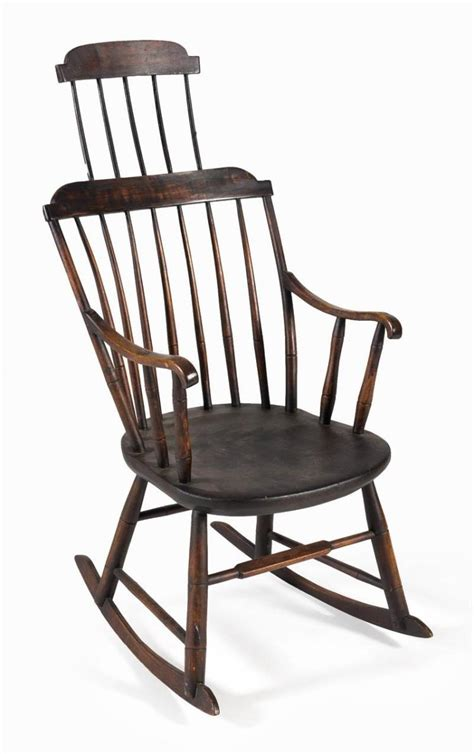 American Chair by Antique American Comb Back Rocking Chair By Samuel K