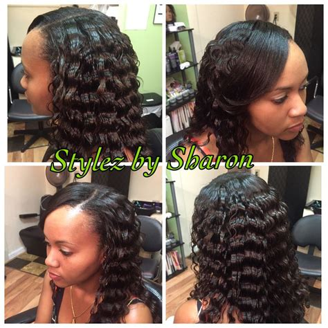 how to crinkle hair black hair partial sew in with crinkle curls stylez by sharon