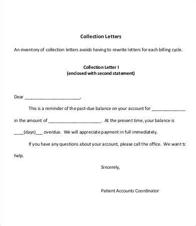 collection letter template word format