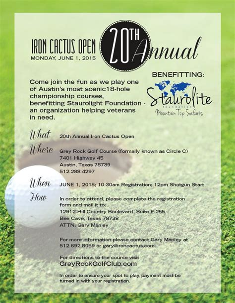 golf tournament registration form template 20 reasons to play the 20th annual iron cactus charity