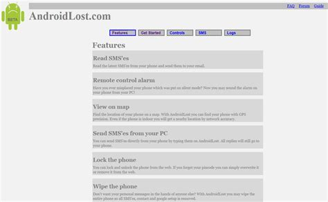 lost website how to use android device manager