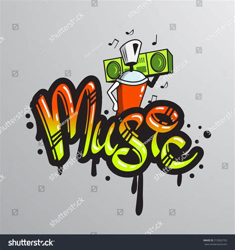 graffiti spray can character element player stock vector