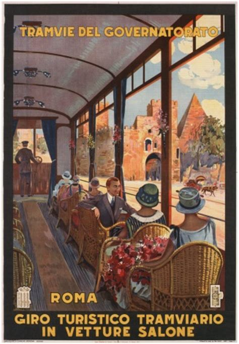 vintage travel poster roma italy