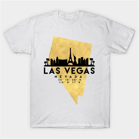 Las Vegas Nevada 07 T Shirt las vegas nevada skyline map las vegas t shirt teepublic