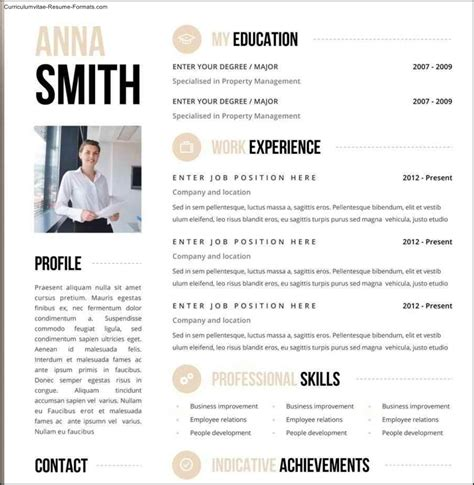 free creative resume templates word free sles