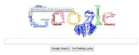 design google front page google s kennedy logo on the google front page today