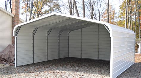 Separate Garage Plans by Partial Enclosed Metal Carports Carports For Sale