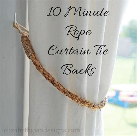 how to use curtain tie backs best 25 curtain ties ideas on pinterest