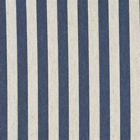 striped linen upholstery fabric blue and off white striped linen look upholstery fabric by