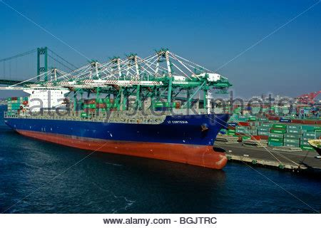boat shipping from florida to california freighter and shipping containers at dock port of arica