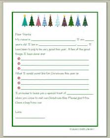 Preschool Letter To Santa Template Gallery For Gt Letter To Santa Template For Preschoolers
