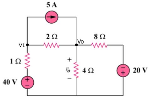 solve a circuit with the nodal analysis 1 electrical