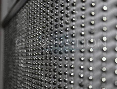 steel bead curtain faux metal balls steel gray beaded curtain