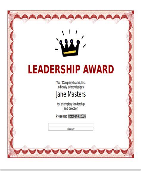 Top 28 Leadership Award Certificate Template Sle Sle Appreciation Certificate