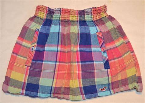 hollister plaid skirt juniors s size xs pink blue