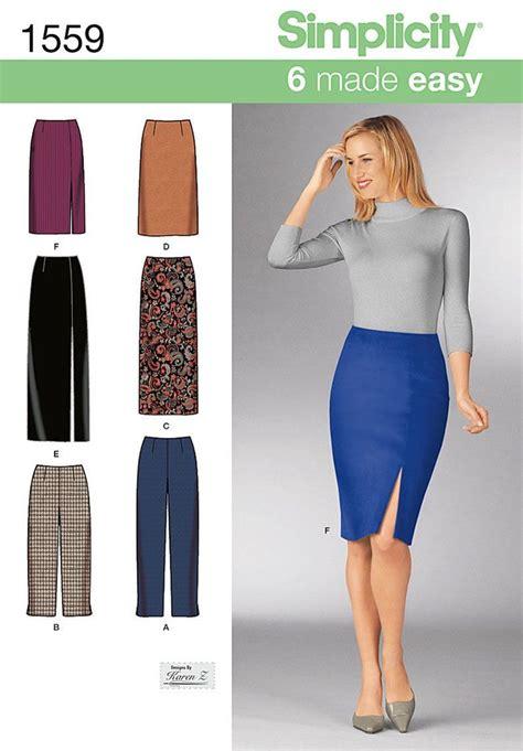 simplicity pattern 1559kk 8 10 12 14 misses skirts