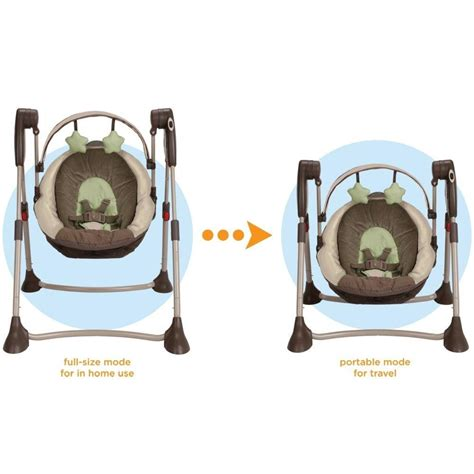 graco swing green com graco swing by me portable 2 in 1 swing