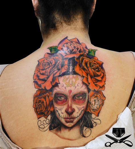 sugar skull face tattoo sugar skull hautedraws
