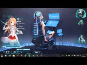 anime theme windows gadget gallery animated desktop gadgets win7 youtube