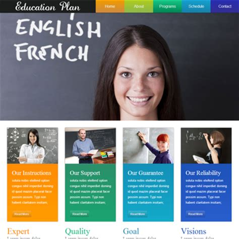 education website templates free html with css 15 html5 and css3 website templates free 2014