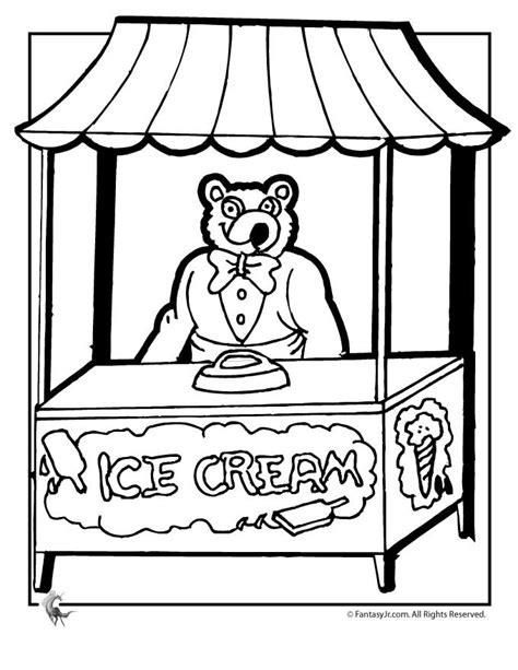 ice cream shop pages coloring pages