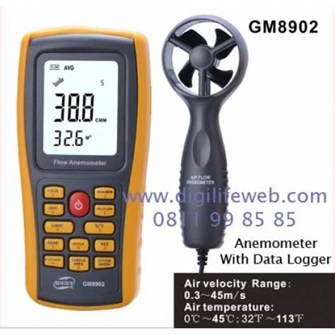 Stok Terbatas Digital Anemometer Thermometer Alat Ukur Kecepatan anemometer data logger benetech gm8902