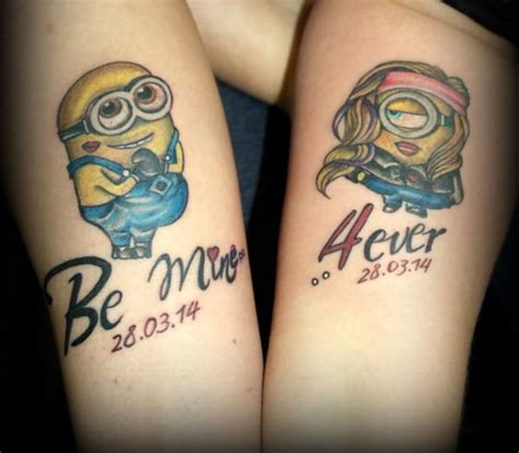 couple cartoon tattoo creativefan