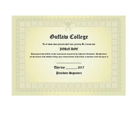 college degree template 30 real diploma templates high school college