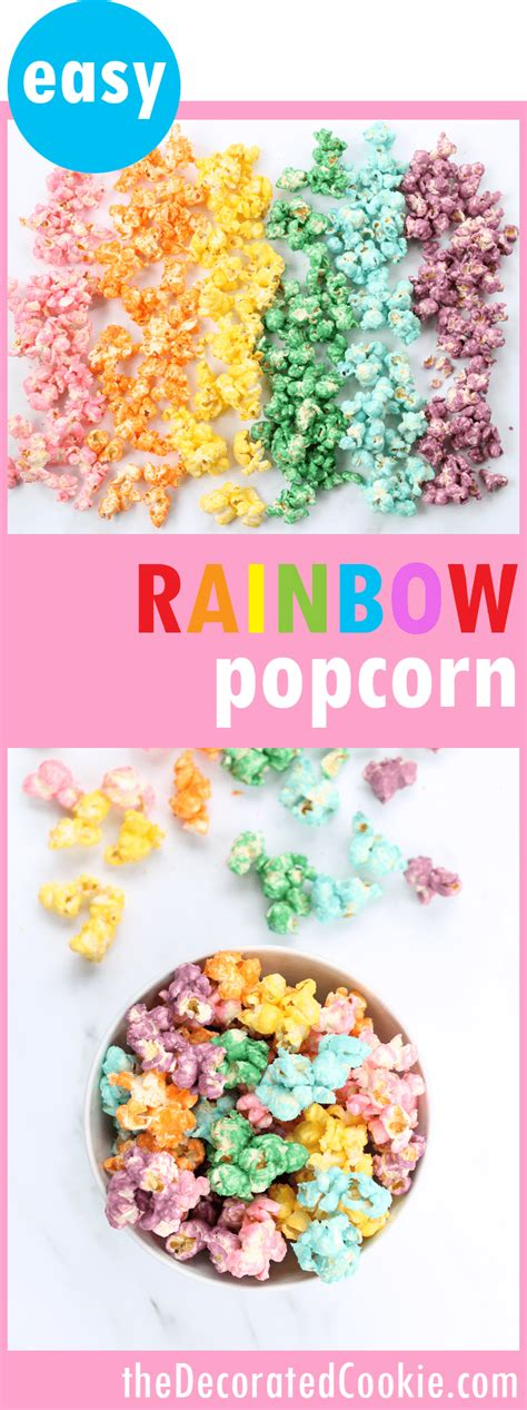 colorful popcorn colorful rainbow popcorn for a rainbow or unicorn